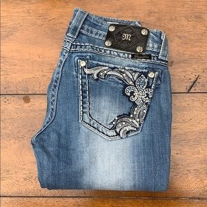 Miss me Women's boot jeans ripped size 26